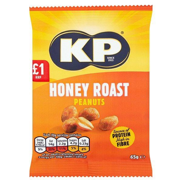 Kp Honey Roast Peanuts Pm 1.00 65g