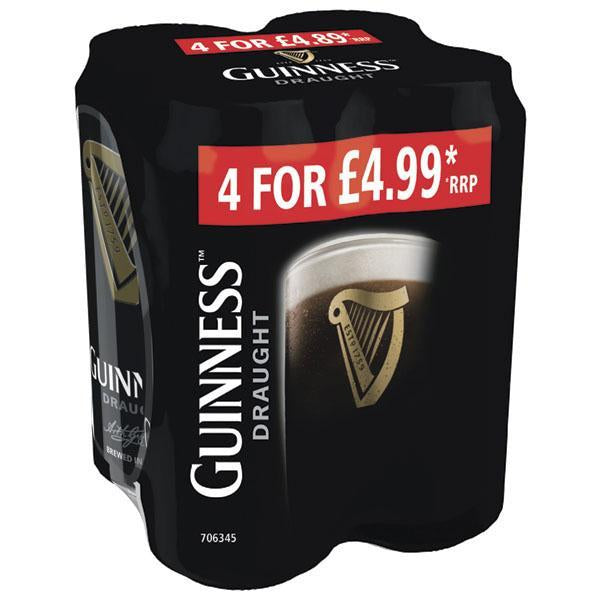 Guinness Draught 4 Pack Pm £4.99 440ml