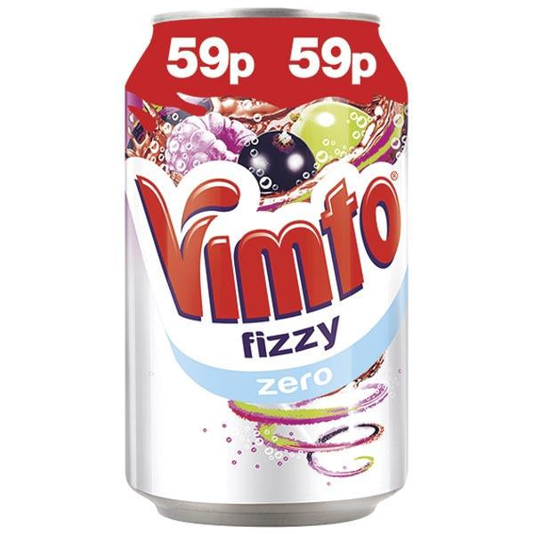 Vimto Fizzy Zero Can Pm 59p 330ml