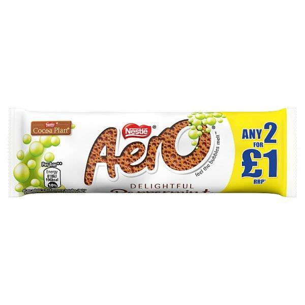 Aero Bubbly Peppermint Bar Pm 2 For £1 36g