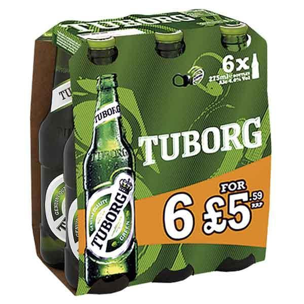 Tuborg 6 Pack Bottle Pm £5.59 275ml