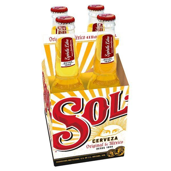 Sol Beer 4 Pack Bottle 330ml