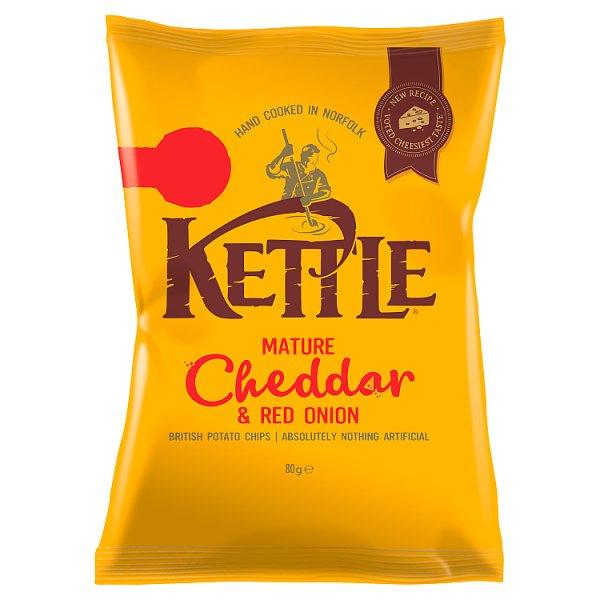 Kettle Chips Mature Cheddar & Onion Pm1.00 80g