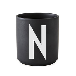 Personal Black Porcelain Cups  N-Z   ポーセリンカップ ブラック by DESIGN LETTERS デザインレターズ