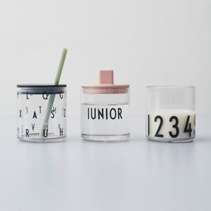 KIDS PERSONAL DRINKING GLASS 123 ABC by DESIGNLETTERS デザインレターズ