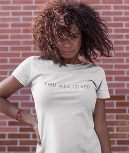 You are loved Weiß  - Damen Premium Organic Shirt