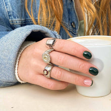 Load the image in the gallery, Sunflower ring in vintage silver from GIGI PARIS