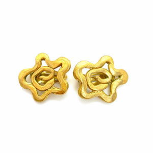 Once upon a time golden abstract stars earrings from GIGI PARIS