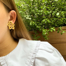 Load the image in the gallery, Once upon a time golden abstract stars earrings from GIGI PARIS