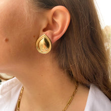 Load the image in the gallery, Big drop golden earrings by Gigi Paris