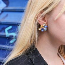 Load the image in the gallery, Turquoise blue stone earrings from GIGI PARIS