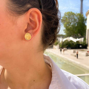 Upcycled Chanel earrings from GIGI PARIS