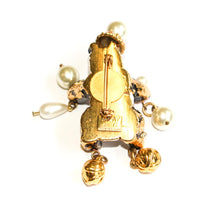 Load the image in the gallery, Rhinestone and pearl panda brooch Jacky de G