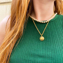 Load the image in the gallery, Upcycled Chanel golden necklace from GIGI PARIS