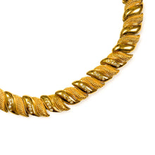 Load image into gallery, Shiny and matte gold chocker with rhinestones