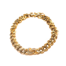 Load the image in the gallery, Golden choker with round rhinestone chain from GIGI PARIS