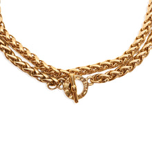 Load the image in the gallery, Necklace Agatha gold mesh palm tree clasp TO by Gigi Paris