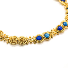 Load image into Gallery viewer, Orena blue cabochon necklace