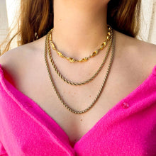 Load the image in the gallery, Carven golden necklace by GIGI PARIS