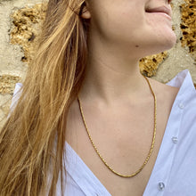Load the image in the gallery, Golden necklace with fine and round snake mesh from Gigi Paris