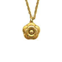 Load the image in the gallery, Chanel Camélia gold upcycled necklace from GIGI PARIS