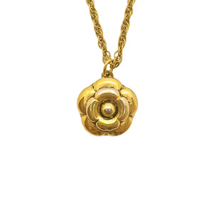 Chanel Camélia gold upcycled necklace from GIGI PARIS