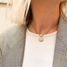 Load the image in the gallery, Chanel Paris Hamburg white upcycled necklace from GIGI PARIS