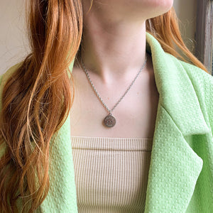 Upcycled Chanel Paris silver necklace from GIGI PARIS