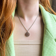 Load the image in the gallery, Upcycled Chanel Paris silver necklace from GIGI PARIS