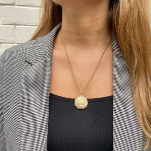 Gold Chanel Paris upcycled necklace from GIGI PARIS