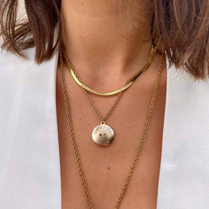 Upcycled Chanel Paris golden necklace from GIGI PARIS