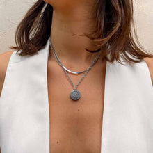 Upload the image to the gallery, Chanel Paris metallic upcycled necklace at GIGI PARIS