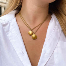 Load the image in the gallery, Upcycled Chanel Sun necklace from GIGI PARIS