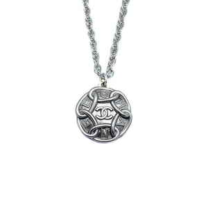 Chanel upcycled silver chain necklace from GIGI PARIS