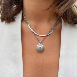 Geometric Chanel upcycled necklace from GIGI PARIS
