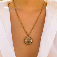 Load the image in the gallery, Upcycled Chanel iridescent necklace from GIGI PARIS