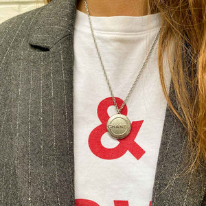 Upcycled Chanel metal necklace from GIGI PARIS