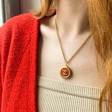 Load image into Gallery viewer, Chanel red upcycled necklace from GIGI PARIS