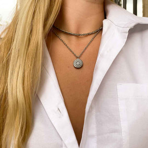Upcycled Chanel silver necklace from GIGI PARIS