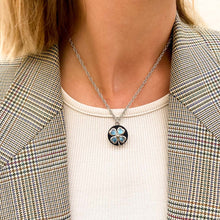 Load image into Gallery viewer, Chanel turquoise clover upcycled necklace from GIGI PARIS