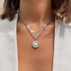 Upcycled Dior silver necklace from GIGI PARIS