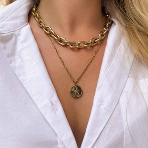 Upcycled Dolce & Gabbana Gold necklace from GIGI PARIS