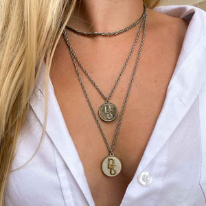 Upcycled Dolce & Gabbana Silver necklace from GIGI PARIS