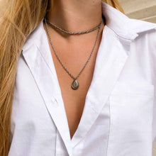 Load the image in the gallery, Upcycled Louis Vuitton drop necklace from GIGI PARIS