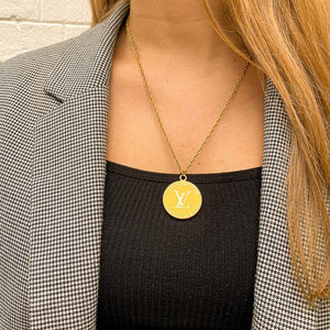 Upcycled Louis Vuitton sun necklace from GIGI PARIS