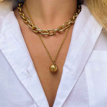 Load the image in the gallery, Upcycled Louis Vuitton sphere necklace from GIGI PARIS