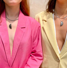 Load the image in the gallery, Duo of upcycled Chanel Besties necklaces from GIGI PARIS