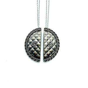 Duo of upcycled Chanel Besties necklaces from GIGI PARIS