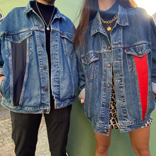 Upload the image to the gallery, 💙 Upcycled jacket Levi's x Coco bleu strip