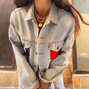 💙❤️ Levi's x Coco blue and red pocket upcycled jacket